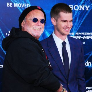 Avi Arad, Andrew Garfield in New York Premiere of The Amazing Spider-Man 2 - Red Carpet Arrivals