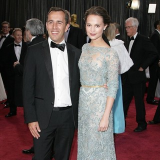 Nikolaj Arcel, Alicia Vikander in The 85th Annual Oscars - Red Carpet Arrivals