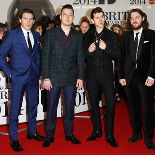Arctic Monkeys in The Brit Awards 2014 - Arrivals