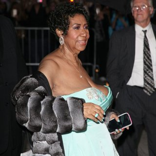 Aretha Franklin in Celebrities for The Late Show with David Letterman