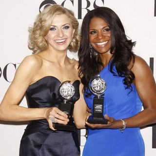 Nina Arianda, Audra McDonald in The 66th Annual Tony Awards - Press Room