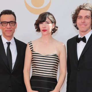 Fred Armisen in 65th Annual Primetime Emmy Awards - Arrivals - armisen-brownstein-krisel-65th-annual-primetime-emmy-awards-01