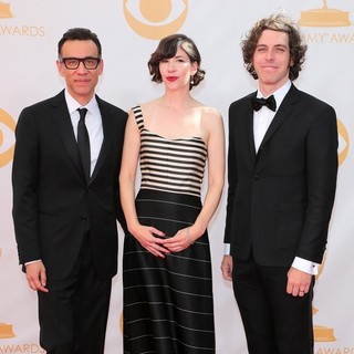 Fred Armisen in 65th Annual Primetime Emmy Awards - Arrivals - armisen-brownstein-krisel-65th-annual-primetime-emmy-awards-02