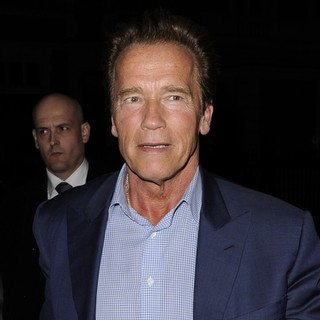 Arnold Schwarzenegger in Arnold Schwarzenegger Arrives Back at His Hotel
