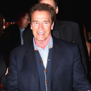 Arnold Schwarzenegger - Arnold Schwarzenegger attends The Kitz Race Club Party with Friends