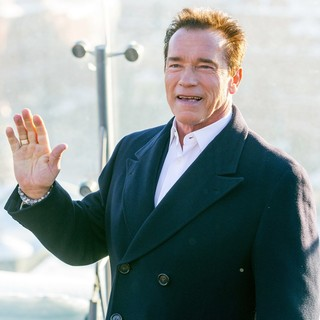 Arnold Schwarzenegger in The Last Stand Photocall