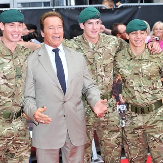 Arnold Schwarzenegger in The Expendables 2 UK Premiere - Arrivals