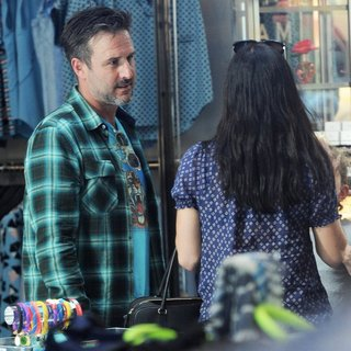 Courteney Cox - Courteney Cox and David Arquette Seen Out Together for A Shopping Spree