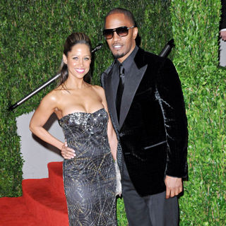 Stacey Dash, Jamie Foxx in The 82nd Annual Academy Awards (Oscars) - Vanity Fair Party - Arrivals