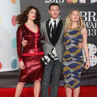 Gemma Arterton in The 2013 Brit Awards - Arrivals - arterton-evans-2013-brit-awards-01