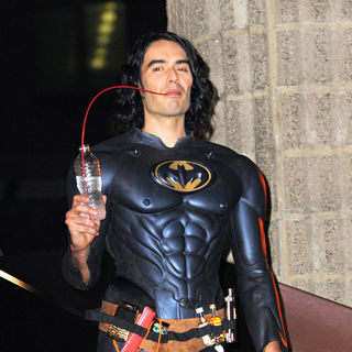 Russell Brand - On The Set of The New Film 'Arthur'