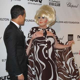 Jacob Artist, Lady Bunny in 21st Annual Elton John AIDS Foundation's Oscar Viewing Party