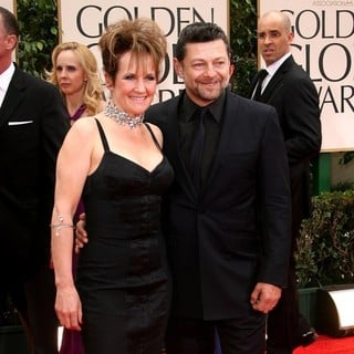 Lorraine Ashbourne, Andy Serkis in The 69th Annual Golden Globe Awards - Arrivals