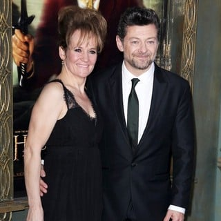 Lorraine Ashbourne, Andy Serkis in Premiere of The Hobbit: An Unexpected Journey