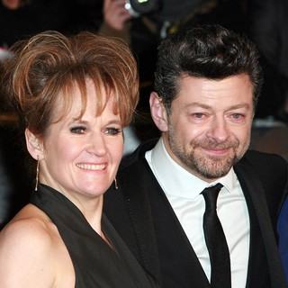 Lorraine Ashbourne, Andy Serkis in The Hobbit: An Unexpected Journey - UK Premiere - Arrivals