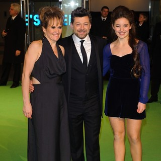 Lorraine Ashbourne, Andy Serkis, Ruby Serkis in The Hobbit: An Unexpected Journey - UK Premiere - Arrivals