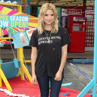 Ashley Benson in Ashley Benson Takes Ceremonial First Slurpee Sip of 7-Eleven's Summer Slurpee Days