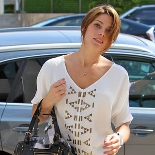 Ashley Greene Arrives at An Office