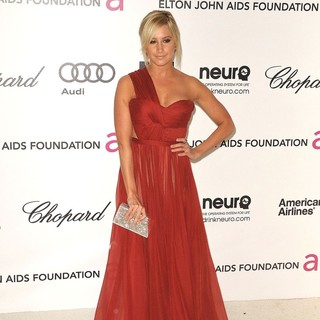 Ashley Tisdale in The 20th Annual Elton John AIDS Foundation's Oscar Viewing Party - Arrivals
