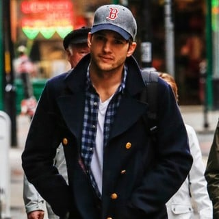 Ashton Kutcher Spotted Out and About in Central London