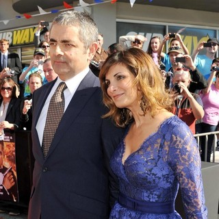 Rowan Atkinson, Sunetra Sastry in The World Premiere of Johnny English Reborn