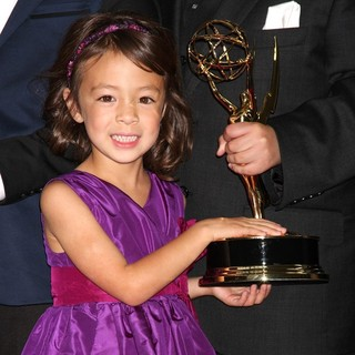 Aubrey Anderson-Emmons in 64th Annual Primetime Emmy Awards - Press Room