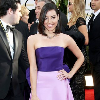 Aubrey Plaza in 71st Annual Golden Globe Awards - Arrivals