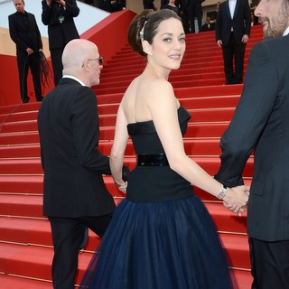 Jacques Audiard, Marion Cotillard in Rust and Bone Premiere - During The 65th Annual Cannes Film Festival