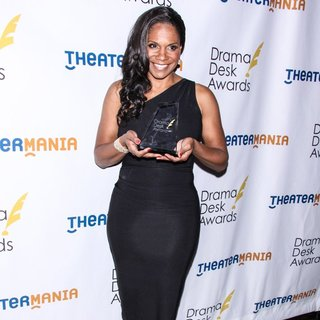 Audra McDonald in 2014 Drama Desk Awards - Press Room