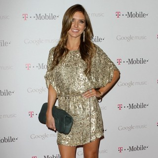 Audrina Patridge in Celebrity Magenta Carpet Arrivals at The Launch Party for Google Music Available on T-Mobile