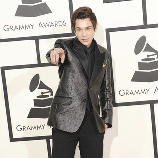 Austin Mahone in The 56th Annual GRAMMY Awards - Arrivals