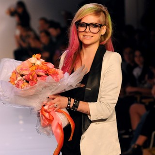 Avril Lavigne in Mercedes-Benz New York Fashion Week Spring-Summer 2013 - Abbey Dawn - Runway