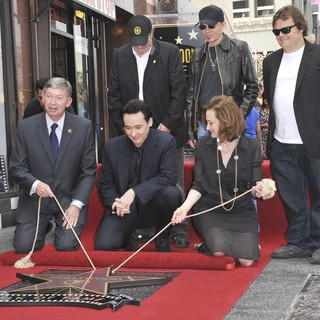 Dan Aykroyd in John Cusack Honored with A Star on The Hollywood Walk of Fame - aykroyd-cusack-thornton-black-john-cusack-walk-of-fame-01