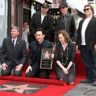 Leron Gubler, Dan Aykroyd, John Cusack, Billy Bob Thornton, Joan Cusack, Jack Black in John Cusack Honored with A Star on The Hollywood Walk of Fame