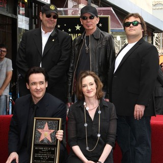 Dan Aykroyd, John Cusack, Billy Bob Thornton, Joan Cusack, Jack Black in John Cusack Honored with A Star on The Hollywood Walk of Fame