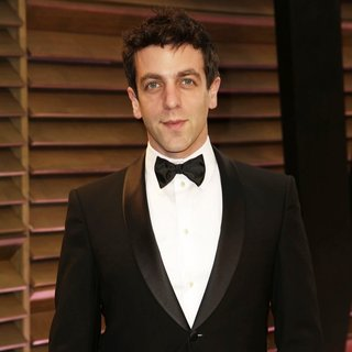 B.J. Novak in 2014 Vanity Fair Oscar Party