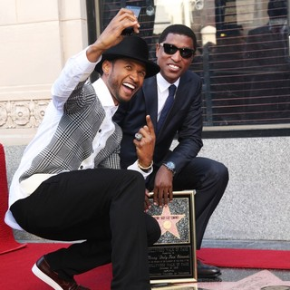 Usher, Babyface in Babyface Honored with A Walk of Fame Star Ceremony