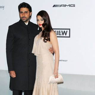 Abhishek Bachchan, Aishwarya Rai in amfAR 21st Annual Cinema Against AIDS During The 67th Cannes Film Festival