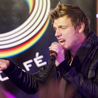Nick Carter, Backstreet Boys in Backstreet Boys Perform at A Fan Gathering to Promote Their Album In A World Like This