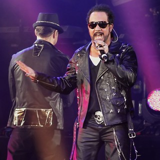 A.J. McLean, Backstreet Boys in New Kids On The Block and Backstreet Boys Performing Live