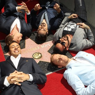 Backstreet Boys in Backstreet Boys Are Honoured with A Hollywood Star on The Hollywood Walk of Fame
