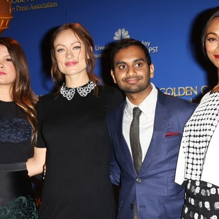 Sosie Bacon, Olivia Wilde, Aziz Ansari, Zoe Saldana in 71st Annual Golden Globe Awards Nominations Announcement