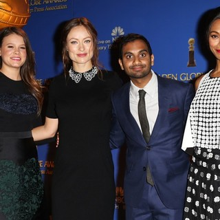 Olivia Wilde in 71st Annual Golden Globe Awards Nominations Announcement - bacon-wilde-ansari-saldana-71st-annual-golden-globe-awards-nominations-02