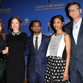 Sosie Bacon, Olivia Wilde, Aziz Ansari, Zoe Saldana, Theo Kingma in 71st Annual Golden Globe Awards Nominations Announcement