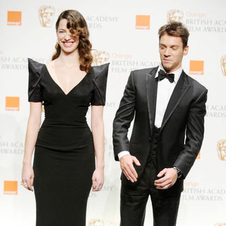 Rebecca Hall, Jonathan Rhys-Meyers in The Orange British Academy Film Awards (BAFTA Awards) - Press Room
