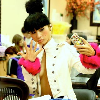 Bai Ling Getting A Manicure