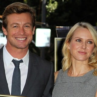 Simon Baker, Naomi Watts in Simon Baker Is Honoured with A Star on The Hollywood Walk of Fame