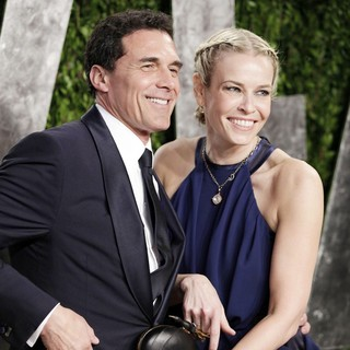 Andre Balazs, Chelsea Handler in 2013 Vanity Fair Oscar Party - Arrivals