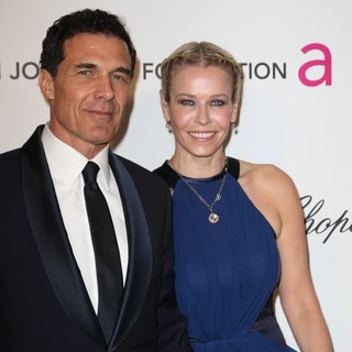 Andre Balazs, Chelsea Handler in 21st Annual Elton John AIDS Foundation's Oscar Viewing Party