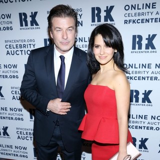 Alec Baldwin, Hilaria Thomas in The Robert F. Kennedy Center for Justice and Human Rights Presents 2012 Ripple of Hope Awards Dinner